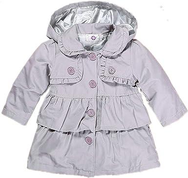 Little Baby Girls Kids Hooded Windbreaker Jacket Casual Outwear Coat Spring Autumn Polka Dot Pattern Outfit