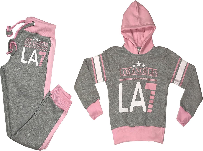 Fabrica Fashion LA7 - Chándal de Forro Polar para niña Gray/Pink 9 ...