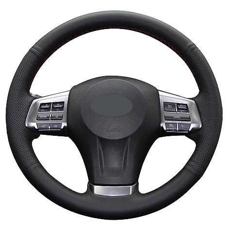 Amazon.com: Forro de volante de piel auténtica para ...