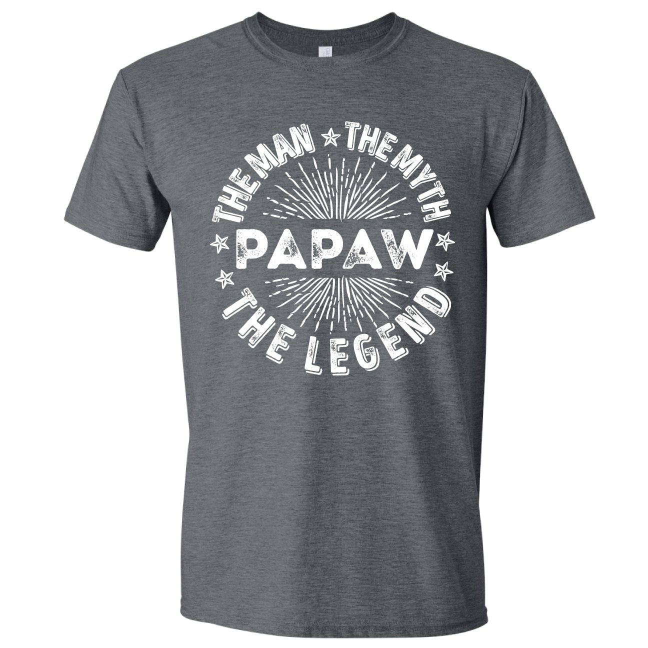 Texas Tees Man Myth Legend Papaw, Tshirt For Papaw, Present For Papaw, Mens Gray 3XL Shirt