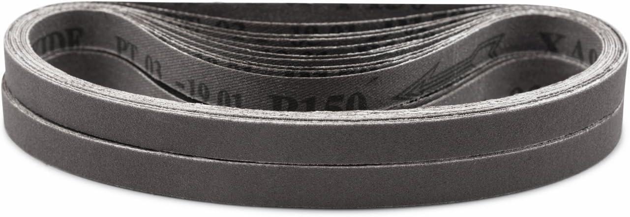 Red Label Abrasives 3//4 X 20 1//2 Inch 80 Grit Aluminum Oxide Air File Sanding Belts 10 Pack