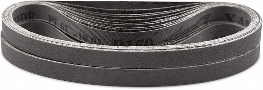 12 Length x 1 Width PFERD 49070 Abrasive File Belt 120 Grit Aluminum Oxide A Pack of 10