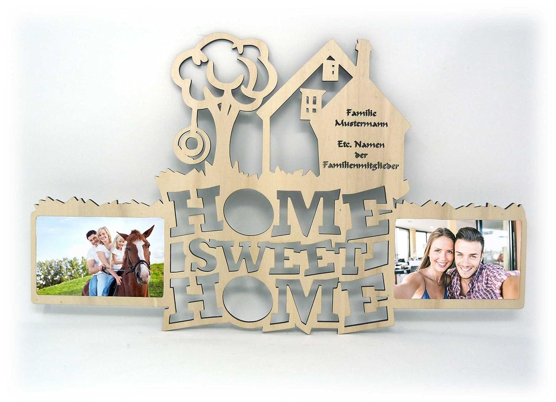 10x15 cm Sweet Home Bilderrahmen Haustürschild Deko Flur Wohnzimmer mit Namen