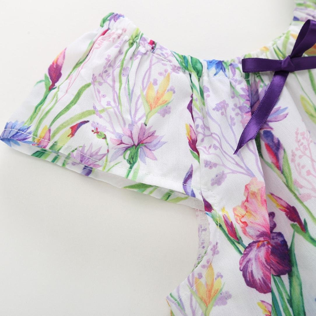 Jchen TM New Style 2PC Newborn Infant Baby Boy Girls Flower T-Shirt Tops+Shorts Summer Outfits Set for 0-4 T