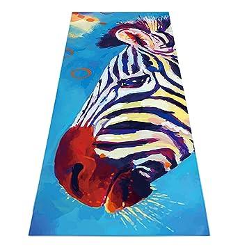 Heathyoga Caliente Toalla de Yoga (Antideslizante, diseño Exclusivo de Esquina Bolsillos, 100% Microfibra Toalla Protectora de Esterilla de Yoga para Yoga ...