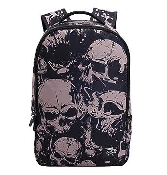 Amazon Com Deloom Boys Teens Lightweight Skull Cool Backpacks