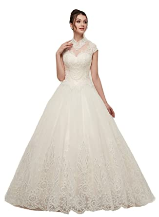 Darcy74dulles Women S Elegant Embroidery Wedding Dress Backless