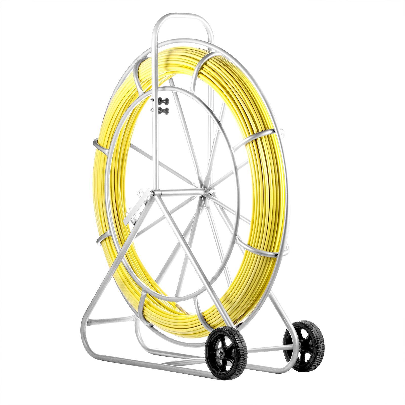 SucceBuy Fish Tape Fiberglass 12MM Fiberglass Wire Cable 820FT Fish Tape Fiberglass Wire Running Duct Rodder by SucceBuy