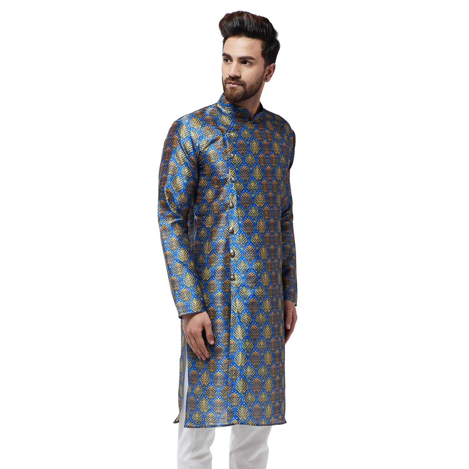 Festival-Men-Dupion-Silk-Kurta-Pajama-Ethnic-Party-Wear-Bollywood-Dress-Pyjama thumbnail 14