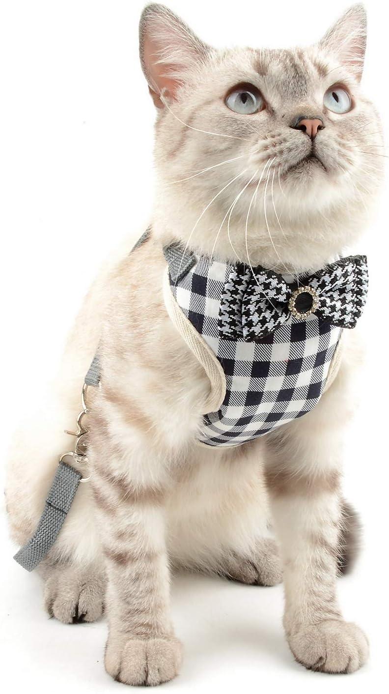 SELMAI Arneses para Gatos para Que no se Escapen Patrón de Cuadros ...