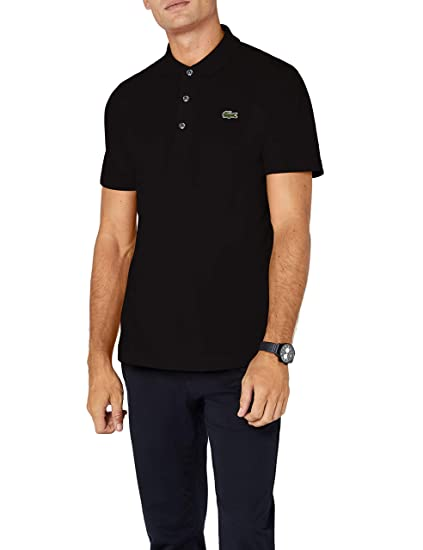 4248e0ffd Lacoste Men's L1230 Polo Shirt, Black 031), X-Small (Size Manufacturer