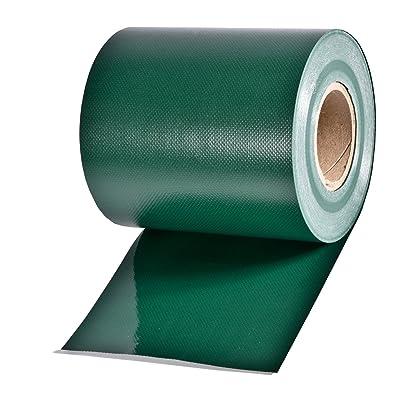 35m Rouleau de protection visuelle vert RAL 6005, épaisseur du matériau 0,45 kg/m², y compris 20 Bouchons en plastique, largeur de rouleau 19cm, pour clôtures de jardin, tapis en une ou deux barres clotures avec hauteur de ma