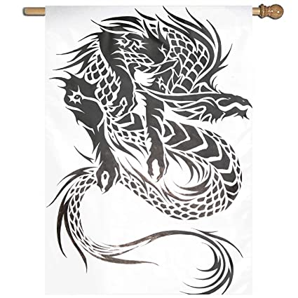 2434f41d2e449 Amazon.com : Fornate Tribal Dragon Tattoo Design Premium Garden Flag  Decoration; One Sided 27 x 37 Inch : Garden & Outdoor