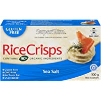 Superslim Superslim Rice Crisps 100g (Pack of 12) Sea Salt, Sea Salt, 1200 Grams