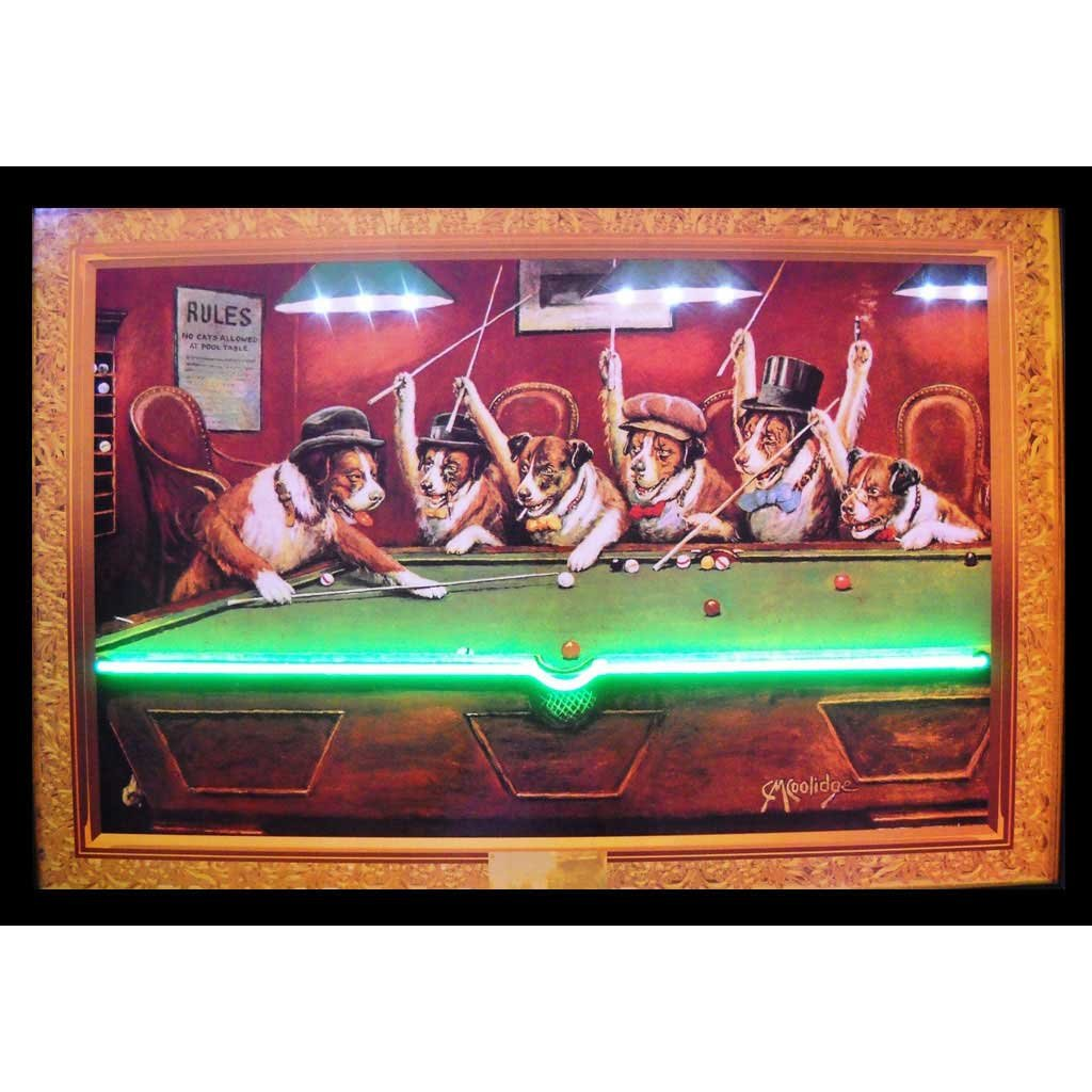 Neonetics 3DOGNL Dogs Playing Pool Neon LED Picture by Neonetics