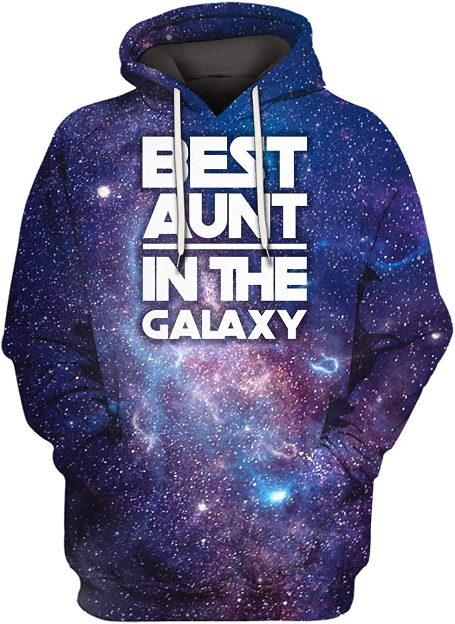 Best Aunt in The Galaxy 3D All Over Sublimation Printing Shirt