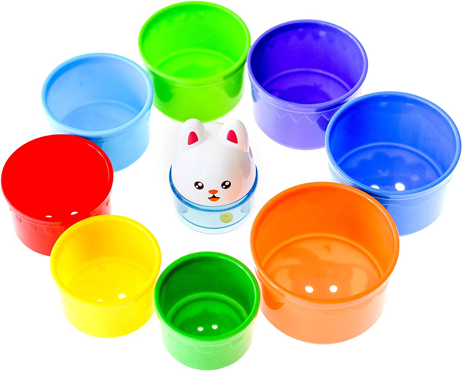 Stacking Cups Colorful Nesting Sand Toy Educational Toy for Babies Toddlers and Young Children Bath Toy