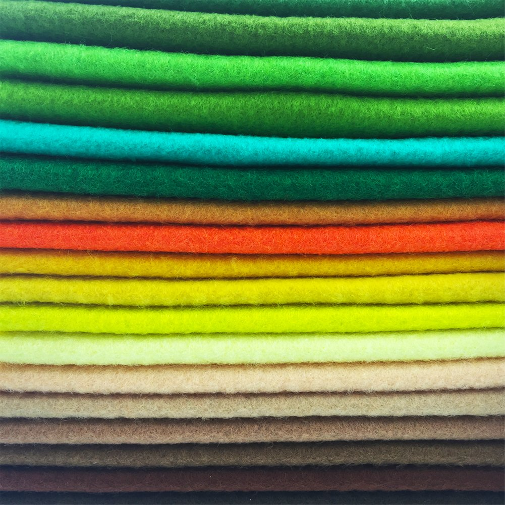 flic-flac 42pcs1.4mm Thick Soft Felt Fabric Sheet Assorted Color Felt Pack DIY Craft Sewing Squares Nonwoven Patchwork (30cm 30cm) by flic-flac (Image #8)