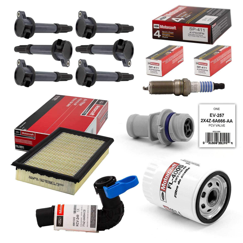 Amazon.com: Tune Up Kit 2007 Ford Edge 3.5L V6 Ignition Coil DG520 SP411 EV257 KCV249: Automotive