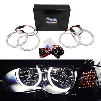 iJDMTOY 7000K Xenon White 284-SMD LED Angel Eyes Halo Ring Lighting Kit for BMW  sc 1 st  Amazon UK & iJDMTOY 7000K Xenon White 284-SMD LED Angel Eyes Halo Ring Lighting ...