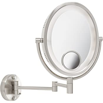 Amazon Com Jerdon Hl65n 8 Inch Lighted Wall Mount Makeup