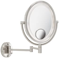 Jerdon HL9515N Wall Mount Makeup Mirror