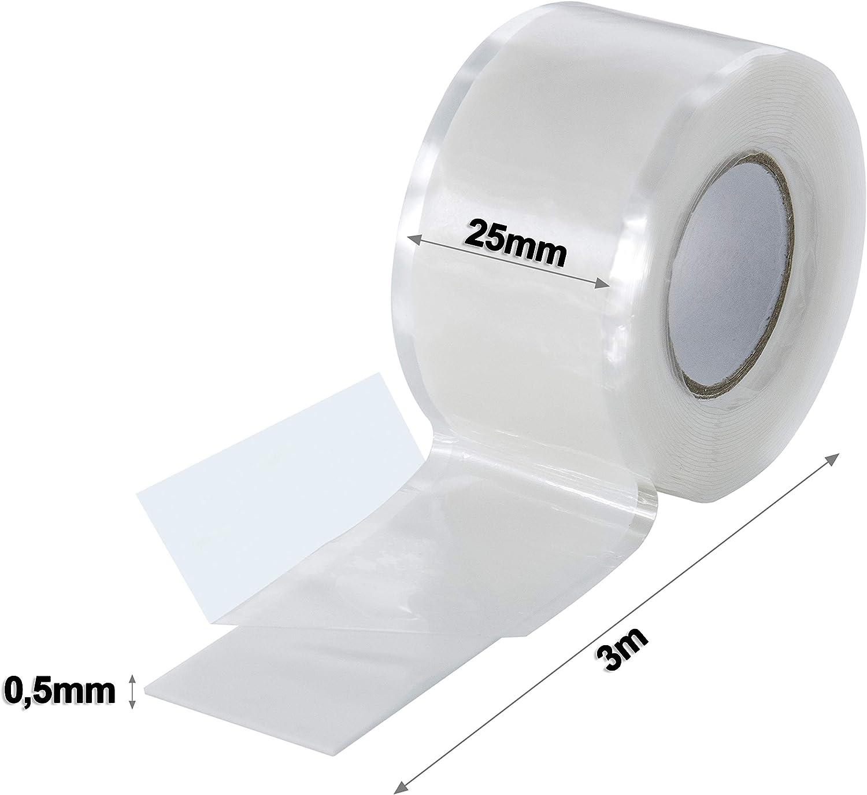 0,23€//m weiß Elektro-Isolierband 50mm breit