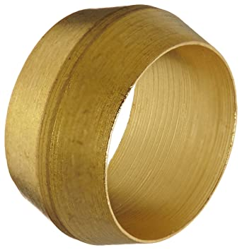 3//8 Tube OD 0.4700 Sleeve OD Pack of 100 0.4700 Sleeve OD Eaton Weatherhead 60X6 Compression Sleeve CA360 Brass Eaton Products Pack of 100 3//8 Tube OD