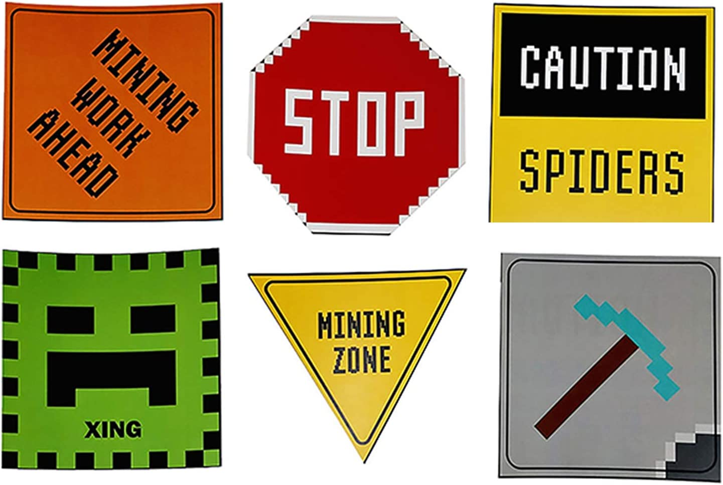 """Mining Fun Party Sign 6"""" Cutouts, Mining Party Decorations, Mining Party Supplies, Room Decorations, Party Signs"""