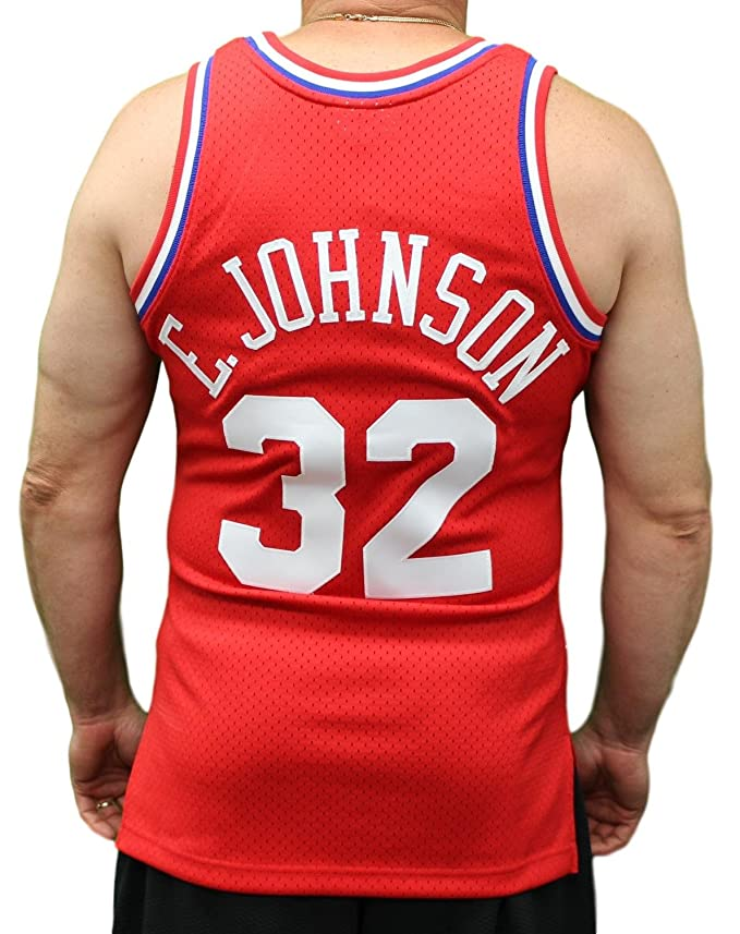 99b039e06 Amazon.com   Mitchell   Ness Magic Johnson 1991 NBA All Star West Swingman  Red Jersey Men s   Sports   Outdoors