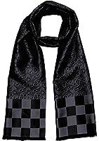 LORENZO CANA High End Luxus Herren Schal 100% feinster Seide aufwändig jacquard gewebt Damast Seidenschal Seidentuch Tuch Dandy Style Schwarz 25 x 160 cm 8921511