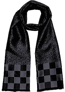 17e5e35a3ec2 Lorenzo Cana Foulard de 100% soie pour l`homme – écharpe style dandy avec