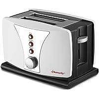 Butterfly BSTP17-18A 800-Watt 2 Slice Toaster (White/Black)