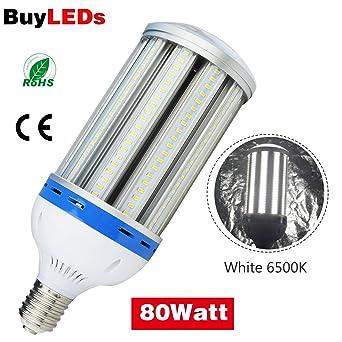 LED Corn Light 80W E40 Lámpara LED Alumbrado Público 11000 LM efecto Blanco Frío 6000K LED