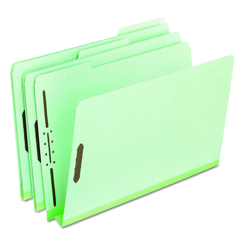 "Pressboard Folders with Two 2"" Capacity Fasteners, Legal, Green, 25/Box (並行輸入品) B0015ZWA5M"