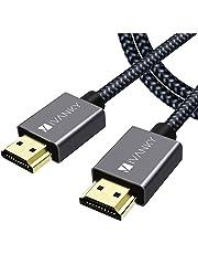 iVANKY Câble HDMI 4K Ultra HD 2m - Câble HDMI 2.0 en Nylon Tressé Supporte Ethernet/3D/Retour Audio - Prise HDMI pour Lecteur Blu-ray/Xbox/PS4/TV 4K Ultra HD/Ecran - Gris Sidéral