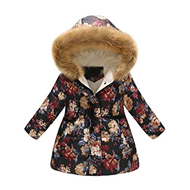 3618f63b2da3f Enfants Manteau d hiver Filles Imprimer Manteaux Manteau Chaud Garçon  Survêtement d hiver Veste