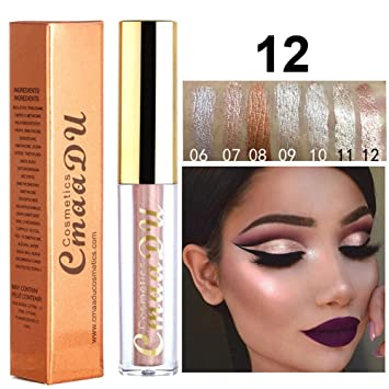 Amazon.com   MeiQing Shining Liquid Eyeshadow Pencil Glitter Neutral Makeup  Highlighter Eye Shadow Cosmetic Eyeliner Face Concealer Pen (12)   Beauty 50b6049aa14