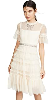 31eebfba37c6 Needle & Thread Women's Midsummer Lace Dress, Ivory, Off White, 2 at ...
