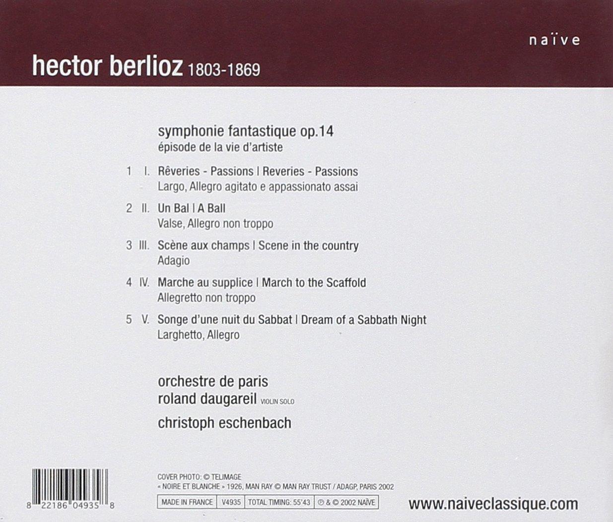 Hector Berlioz Christoph Eschenbach Roland Daugareil Orchestre  # Meubles De Tele Berlioz