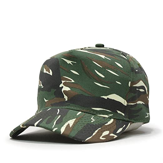 05cda9f5866 Camouflage Cotton Twill Adjustable Snapback Baseball Cap (Various Colors)  (Dark Green Tan) at Amazon Men s Clothing store
