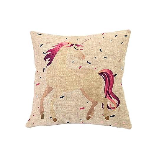 Nacnic Funda de cojin Unicornio Confetti