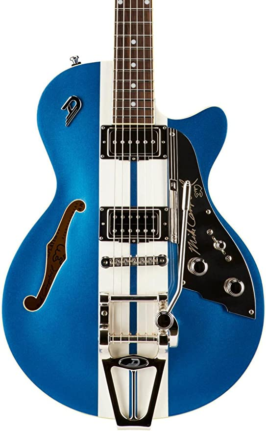 Duesenberg Estados Unidos starplayer TV Mike Campbell Semi-Hollow guitarra eléctrica azul metálico: Amazon.es: Instrumentos musicales
