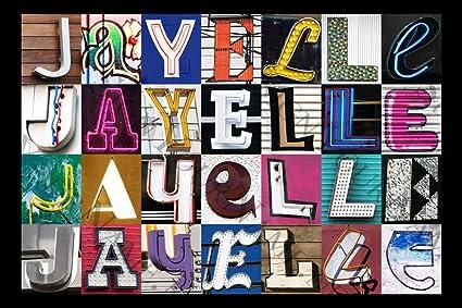 Amazon.com: jayelle nombre personalizado Póster utilizando ...