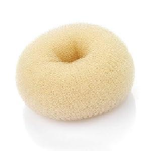 Beaute Galleria Hair Donut Bun Maker Ring Style Mesh Chignon Ballet Sock Bun (Small, Beige/Blonde)