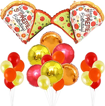 Amazon.com: KREATWOW Pizza Party Decorations - Globos de ...