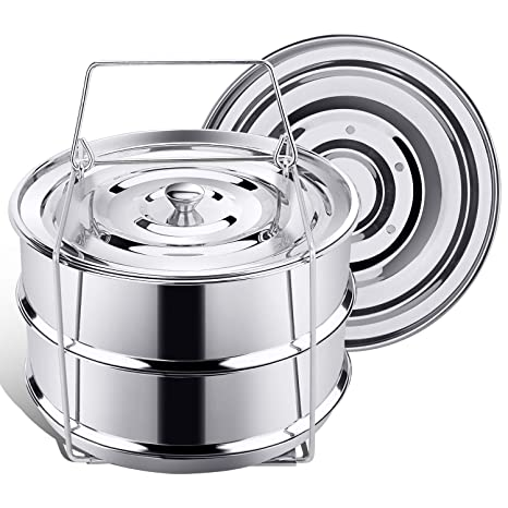Amazon.com: Apilable vaporera sartenes para Instant Pot ...