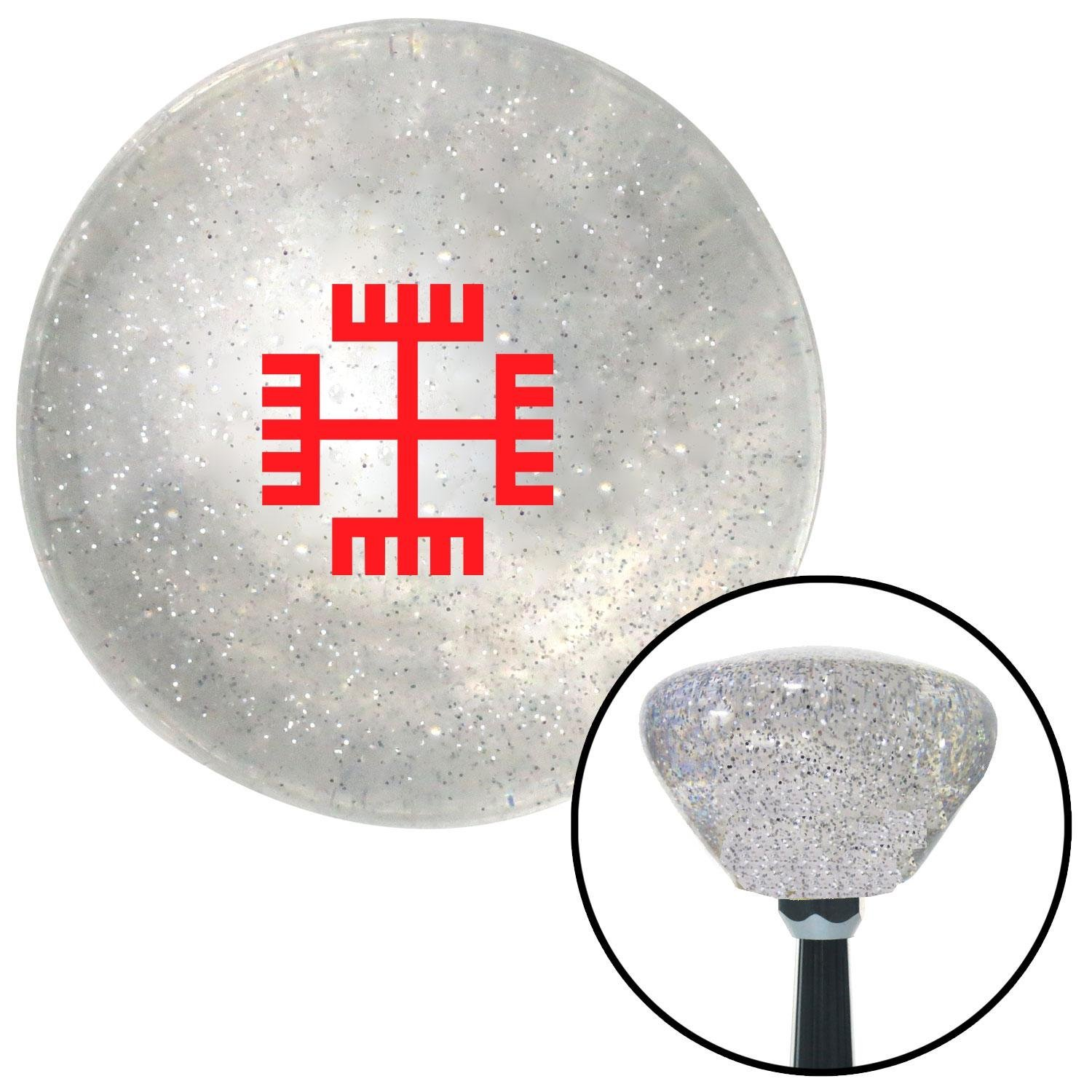 Red Hands of God American Shifter 162562 Clear Retro Metal Flake Shift Knob with M16 x 1.5 Insert