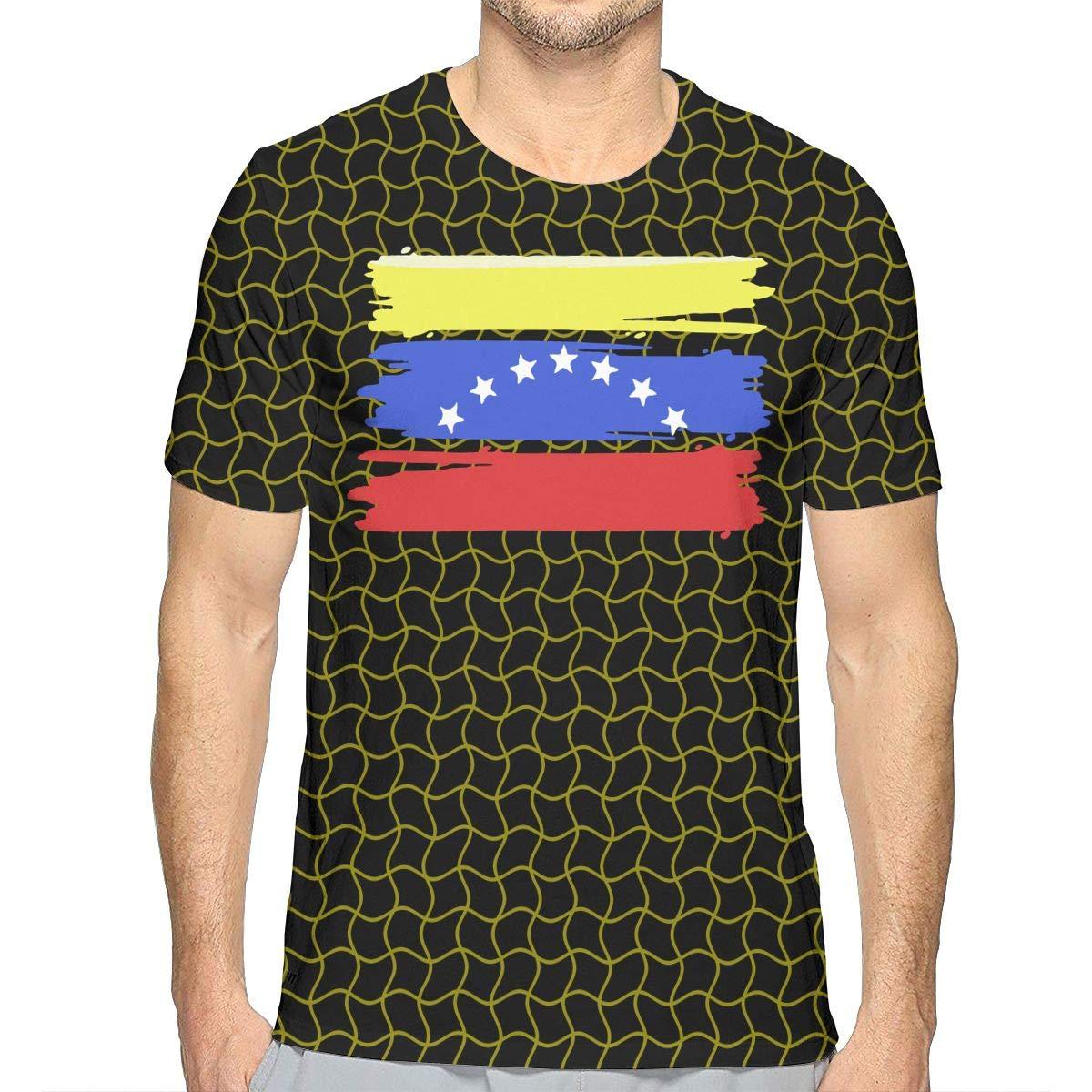 JJKKFG-H Venezuelan Stars Flag Mens Cool Short Sleeve T Shirt