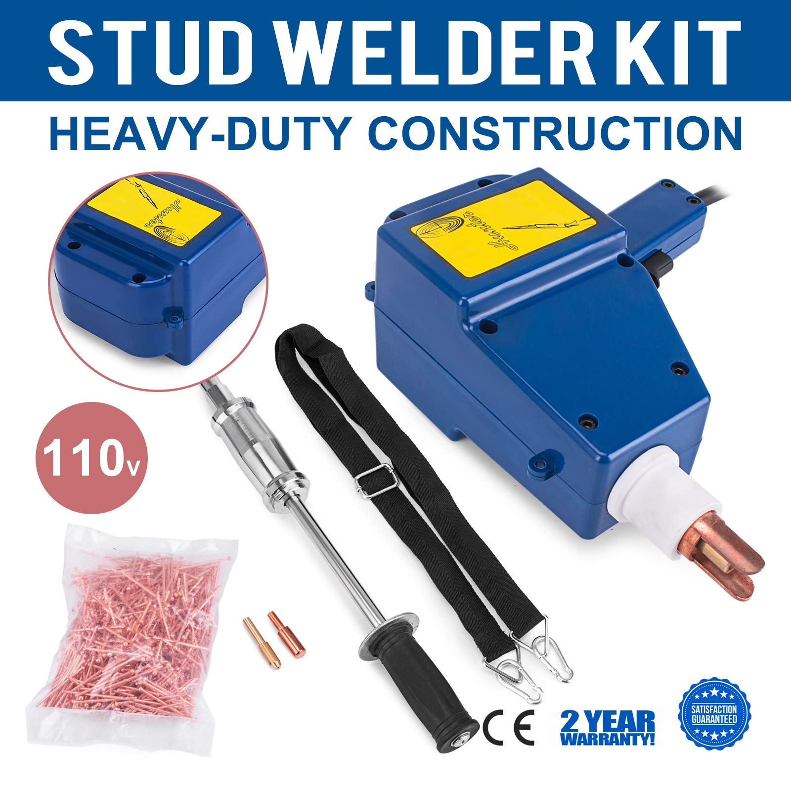 Mophprn Welder Stud Starter Kit 800 VA Spot Stud Welder Dent Puller Kit Electric Stud Welder Kit for Auto Body Repair